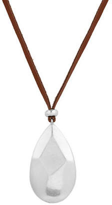 Lucky Brand Under The Influence Leather Pendant Necklace