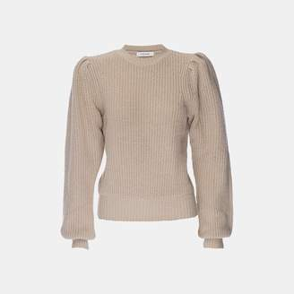 Frame Cropped Crew Sweater in Oatmeal