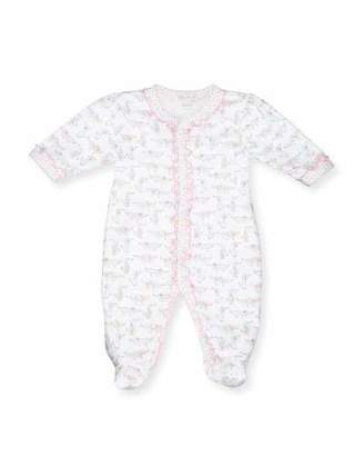 Kissy Kissy Darling Dachshunds Pima Footie Pajamas, White/Pink, Size Newborn-9 Months $44 thestylecure.com
