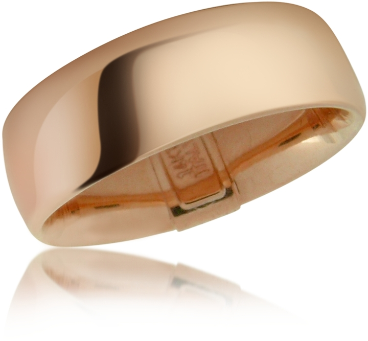 Forzieri Smooth 14K Hollow Rose Gold Band Ring