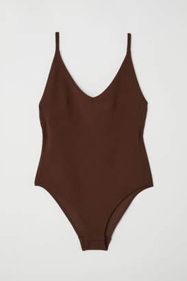 H&M Creped Bodysuit - Brown