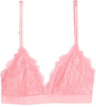 H&M Padded Triangle Bra - Pink