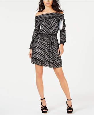 Michael Kors Off-The-Shoulder Fit & Flare Dress