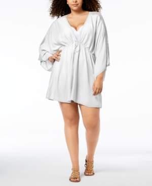 Raviya Plus Size Crochet-Trim Tunic Cover-Up Women's Swimsuit