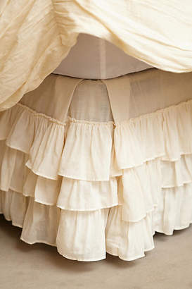Anthropologie Pleated Ruffles Bed Skirt