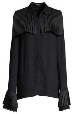 Mother of Pearl Pleated Trim Shirt