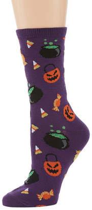 Asstd National Brand Halloween 1 Pair Crew Socks - Womens