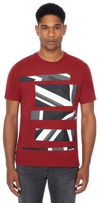Ben Sherman Red Geometric Stripe Print T-Shirt