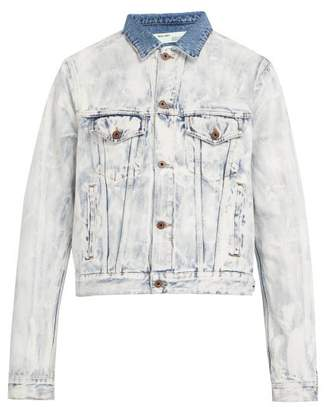 Off-White Off White Bleached Denim Jacket - Mens - White