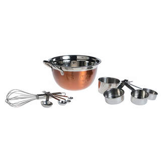 BASIC ESSENTIALS Basic Essentials Basic Essential Stainless Steel Colors Measuring Cup+Spoons
