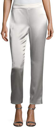 St. John Emma Liquid Satin Cropped Pants