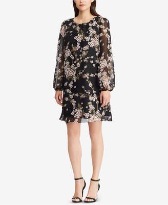 American Living Floral-Print Bishop-Sleeve Dress