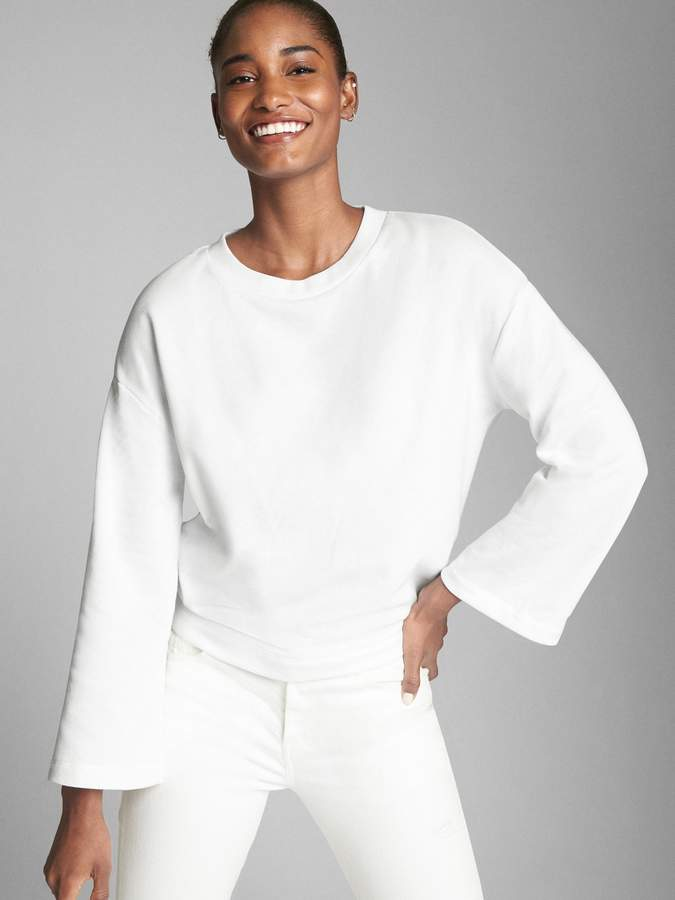 Tie-Back Pullover Sweatshirt in French Terry