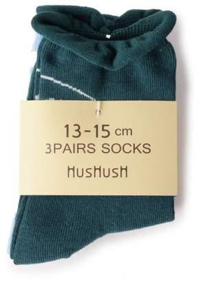 HusHusH (ハッシュアッシュ) - HusHusH(kids) デイリーソックス3Pセット