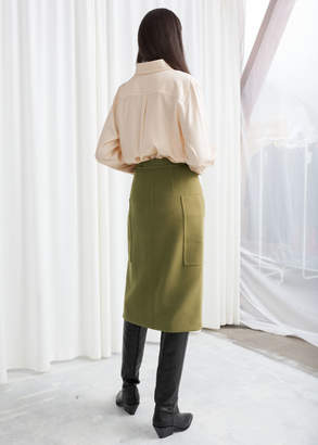 And other stories High Waisted Workwear Skirt