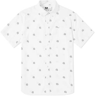 Denim By Vanquish & Fragment Denim by Vanquish & Fragment Short Sleeve Icon Pattern Shirt