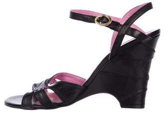 Sonia Rykiel Sonia by Wedge Leather Sandals