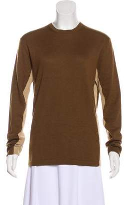Hermes Cashmere-Blend Colorblock Sweater w/ Tags