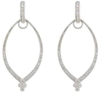Jude Frances 18K White Gold Provence Frame 0.34ct. Diamond Earrings