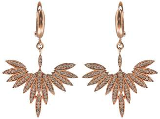 Fly London Wild Hearts High Earrings Rose Gold