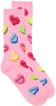 K. Bell Candy Heart Crew Socks - Women's