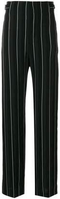 Haider Ackermann striped high waist wide leg trousers