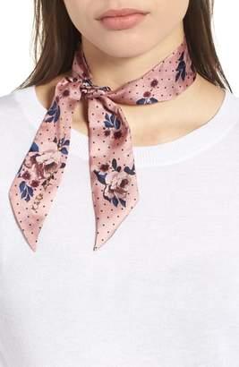 Kate Spade Prairie Rose Silk Skinny Scarf