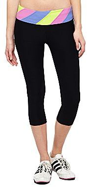 JCPenney XersionTM Multi-Block Waistband Capri