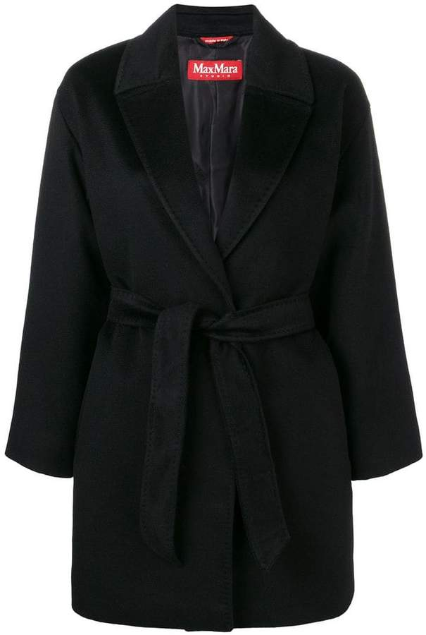 belted midi cardigan