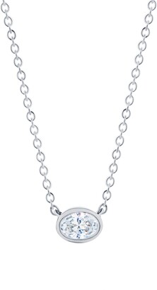 Kwiat Stackable Oval Diamond & 18K Gold Pendant Necklace