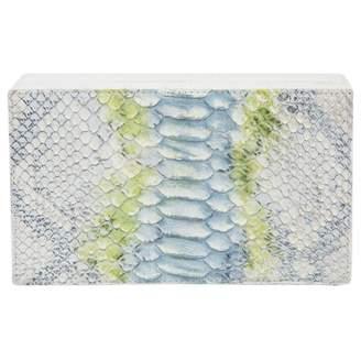 Nancy Gonzalez White Water snake Clutch Bag