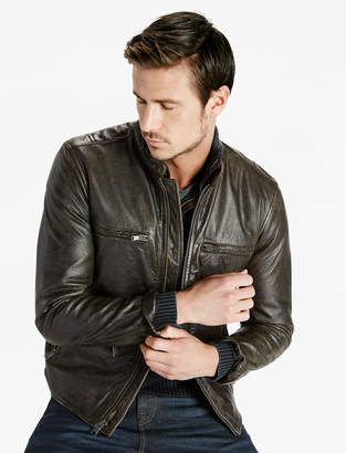 Lucky Brand Classic Bonneville Leather Jacket