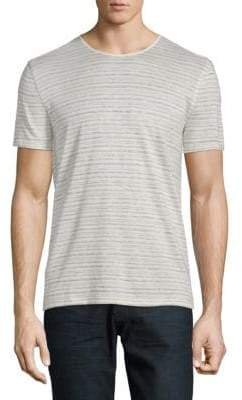 John Varvatos Striped Linen, Cotton & Silk Tee