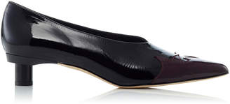 Tibi Levi Glossed Leather Pumps
