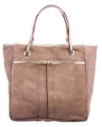 Anya Hindmarch Leather-Trimmed Suede Tote