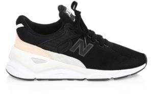 New Balance X90 Suede Mesh Sneakers