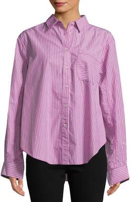 Free People Women's Tie It In A Bow Stripe Shirt