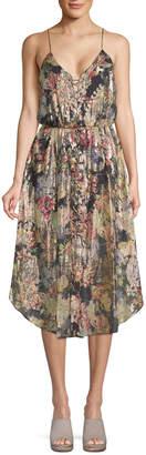 Haute Hippie Lace-Up Midi Dress