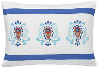 Dena Designs Embroidered Cotton Lumbar Pillow