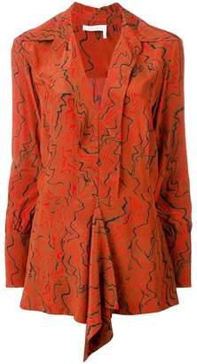 Chloé abstract-print blouse