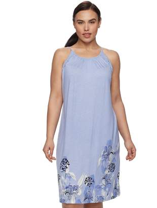 Apt. 9 Plus Size Printed High Neck Chemise
