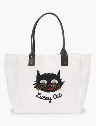 Lucky Brand Lot, Stock And Barrel Lucky Cat Embroidery Tote