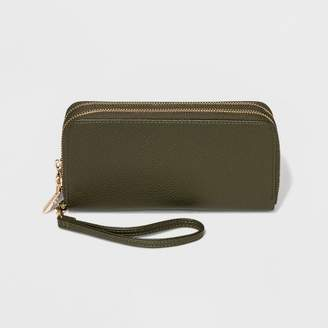 A New Day Classic Double Zip Around Wristlet