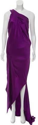 Acne Studios One-Shoulder Silk Dress