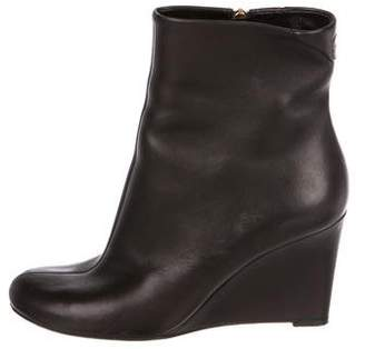 Gucci Leather Wedge Boots