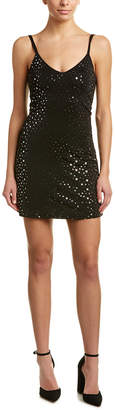 Honey Punch Metallic Star Slip Dress