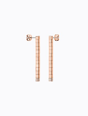 Calvin Klein tune rose gold crystal earrings