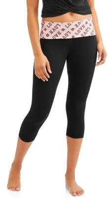 No Boundaries Juniors' Essential Skinny Capri Yoga Pants
