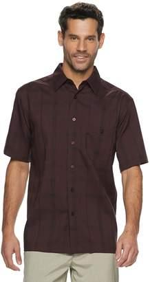 Haggar Men's Cool 18 Classic-Fit Microfiber Button-Down Shirt