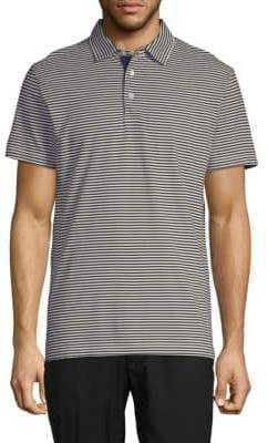 French Connection Striped Cotton Polo
